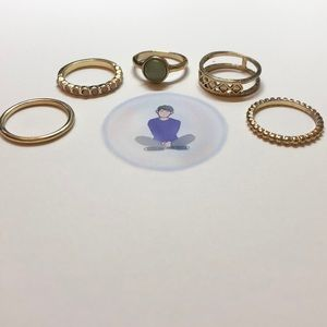 Gold ring collection SIZE 5 or 6